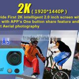 "2015 Newest 2"" screen 1080P Full HD action camera with Wifi &2.4G Remote Control"