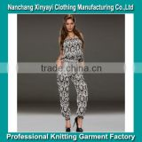 2015 Show thin printed chiffon jumpsuits summer clothes pants female leisure trousers OEM service