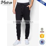 Long Black Two Tone Colors Men's Sweatpants Latest Design