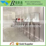 stainless steel glass tower display case, jewelry counter top displays for retail shop                                                                         Quality Choice