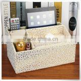 Christmas season hot promotion leather bathroom tissue holder storage box for home furniture