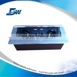 BW-T612 Concealed Tabletop European Electrical Switch Socket/Pop Up Conference Desk Outlet