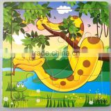 Wooden snake puzzles, 12 animals (Chinese zodiac) puzzles, educational puzzles, wooden Jigsaw puzzles,