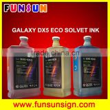 High quality eco solvent ink for DX5 DX7 head eco solvent ink to Galaxy printer,Witcolor printer