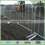 Powder coated plastic pedestrian barricade