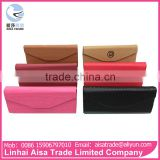 Wholesale China Factory PU Display Eyeglasses Box Folding Glasses Case