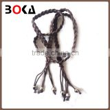// fashion colorful knitted wooden beads belt with tassel for // wholesale,hot selling fashion belt //