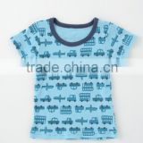 Japanese wholesale products hot selling item cute new born baby boy inner clothing shirts high quality car pattern