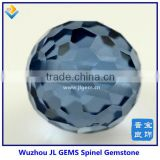 synthetic charming faceted ball spinel, blue facet beads spinel for bracelet