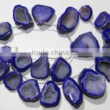 Natural blue dark Coated Druzy Beads Style Gemstone 9 Pcs Good Quality On Whole Sale Price