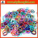 Top quality hot selling colorful loom bands DIY silicone bands for bracelets