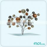 Brand new unquie color metal home decor with mirror garden wall pots wall decorative fireplace