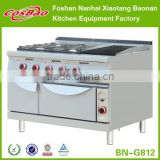 (BN-G812) Stainless steel kitchen gas Cooking Range with barbecue gas grill/burner cooker grill/gas stove barbecue gas grill                                                                         Quality Choice