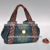 T001-Ladies jeans handbags, denim wholesale tote bags