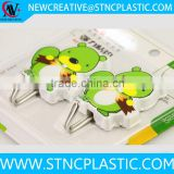2pcs set otter shaped Plastic Self Adhesive Stick On Hooks for Clothes, Towels, Coat Hanger