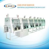 4-working station Glove Box with gas purification system for lab research with high efficiency