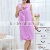 Sweet Purple Microfiber Material Young Girls Spa Bath Robe                                                                         Quality Choice