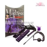 sex toys sexy toys Paddle,whip, eye mask, cuffs,collar with leash -Black Passion Line role play