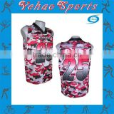 Colorful women shirt sublimation football jersey custom athlete wear