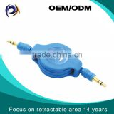 2015 Hot selling new product retractable male to male stereo audio cable for car