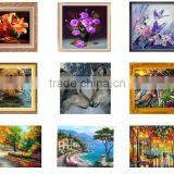 Modern Design Highlight Diamond Needlework DIY Diamond Painting Kit 3D Diamond Cross Stitch Plants Embroidery 25*25cm B003