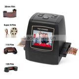 "14Mp CMOS Sensor 2.4"",Color Screen High Quality 35mm Film Scanner with SD Card Slot and 128MB Internal Memory"