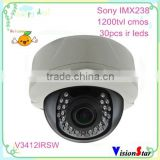 IR day night vision vandalproof small surveillance 1200tvl dome cctv camera