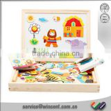 Wooden drawing board puzzle game for children educational toy