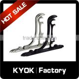 KYOK 16mm aluminum-alloy/wrought iron curtain rods metal accessories,2.8m lenght extendable metal curtain rod brackets