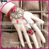 red rose bracelet Red crystal lace bracelet with ring restoring ancient ways fashion bracelet
