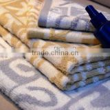 Yarn dyed pure cotton bath towel hand towel disposable towel