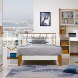 Modern wooden shining white eco friendly Single Bedroom Set Furniture/chilldrenn bedroom furniture set