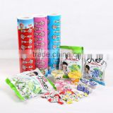 JC sachet design candy/sugar laminated packaging film/bags,food grade chinese cpp wrap film