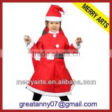 Factory direct sale red christmas girls skirts/coat and dress set baby girl christmas dresses