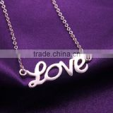Valentine day gift eternal letter love pendant necklace for girlfriend