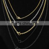 stainless steel black cable chain necklace, wholesale stainless steel cable chain manufacturer