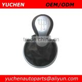 YUCHEN Car Shift Gear Knob With Silver Caps For Skoda Fabia II 2007-2012 OEM 5J0711113F/ 5JD711113B