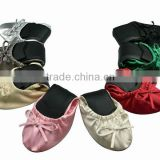 2015 roll up ballet dancing Slippers,wholesale cheap woman ballet slipper in pink