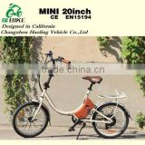 Mini,Wise choice buy smallest folding electric bicycle with 8 speed