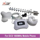 new fashion DCS1800mhz 2g/4g mobile phone repeater with yagi antenna and ceiling antenna