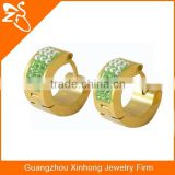 Hoop earrings wholesale gold plated earring stainless steel cz stud earrings