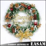 2015 Factory wholesale christmas letters decoration,plastic christmas wreath for indoor christmas decoration