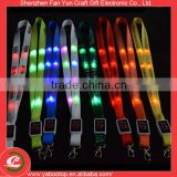 Hot sell fashion flashing id card neck strap led lanyard