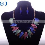 T&J Latest Design Bohemia Style Fashion Jewelry For Mixcolor Alloy Leaves Jewelry Set