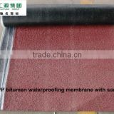 APP waterproof membrane with colored mineral