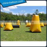 Yellow color inflatable paintball bunker, a set of inflatable barrier game,giant inflatable barrier bag