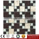 IMARK Electroplated Color Glass Mix Ceramic Mosaic Tiles (IXGC8-077) for back splash mosaic wall art