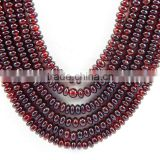 Natural Rhodolite Garnet Plain Smooth roundel Beads party Necklace
