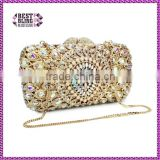 Newest Crystal gold with pearl Evening Clutch Bag clutch mother of pearl (88162A-AB)