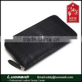 New arrival product genuine stingray skin unisex wallet, genuine leather unisex purse China manufacture